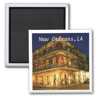 French Quarters, New Orleans 2 Inch Square Magnet
