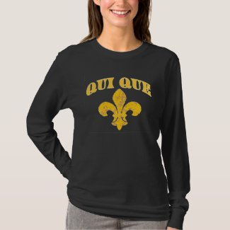 French Qui Que with Gold Fleur De Lis