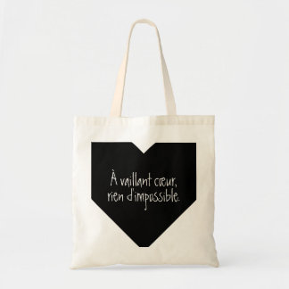 French Quote: Nothing is impossible Tote Bag