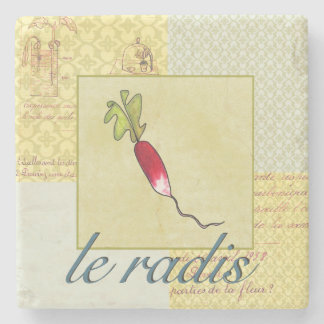 French Radish Veggie Stone Coaster