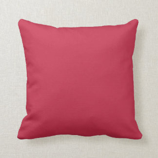 French Raspberry Designer Solid Color Toss Pillow