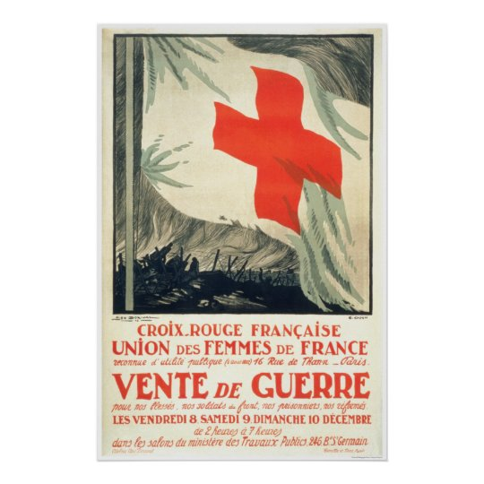 French Red Cross Charity Sale Poster