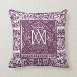 French Renaissance Phoenix Monogram MA Pillow