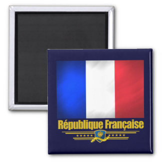 French Republic 2 Inch Square Magnet