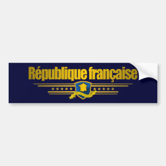 French Republic Bumper Sticker