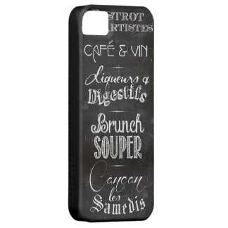 French restaurant chalkboard menu iPhone SE/5/5s case