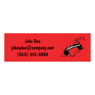French Reto Business Card Corded Telephone Red