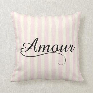 French Retro Amour Throw Pillow