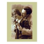 French Retro Romantic Postcard