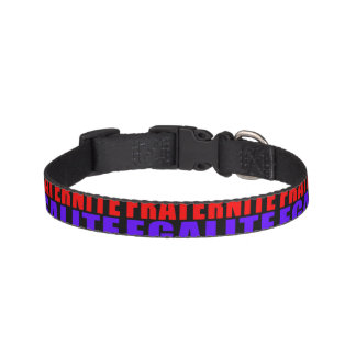 French Revolution Typographic Pattern Design Pet Collar