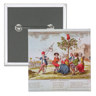 French revolutionaries dancing the carmagnole button