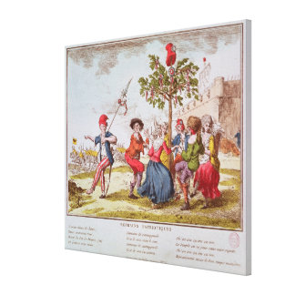 French revolutionaries dancing the carmagnole canvas print