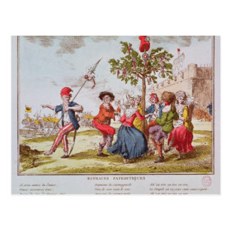 French revolutionaries dancing the carmagnole postcard