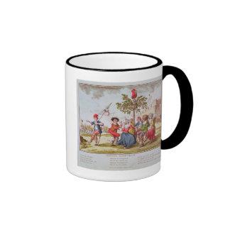 French revolutionaries dancing the carmagnole ringer mug