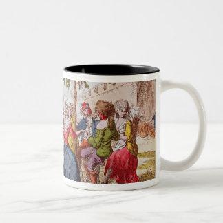 French revolutionaries dancing the carmagnole Two-Tone coffee mug