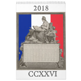 French Revolutionary Calendar for 2018