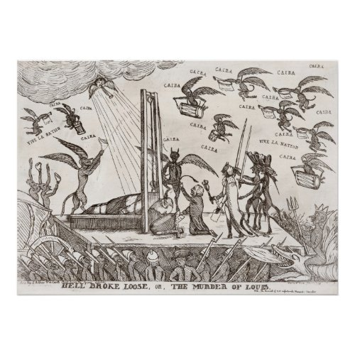 French Revolutionary Cartoon print