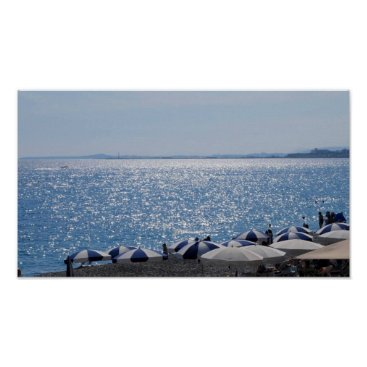 Beach Themed French Riviera Beach Poster
