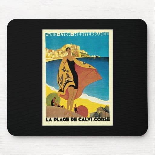 French Riviera La Plage De Calvi Corse Mouse Pad