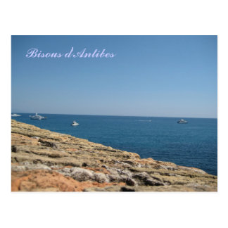 french riviera postcard