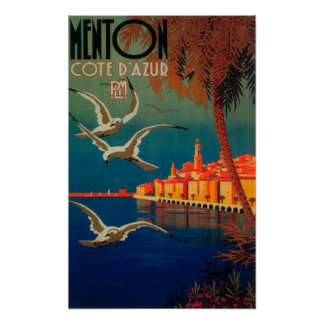 French Riviera Travel Poster 1