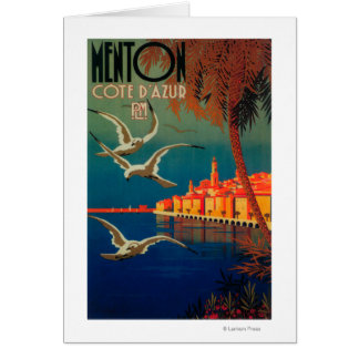 French Riviera Travel Poster # 1 Card