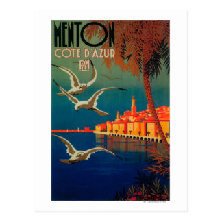 French Riviera Travel Poster # 1 Postcard