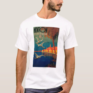 French Riviera Travel Poster # 1 T-Shirt