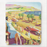 Vintage French Riviera Mousepad