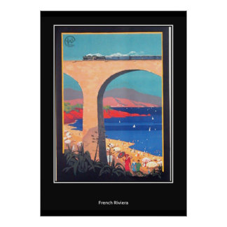 French Riviera vintage Retro Print