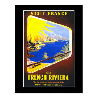 French Riviera Vintage Travel Postcard