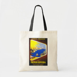 French Riviera Vintage Travel Tote Bag