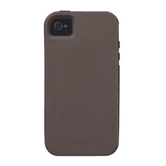 French Roast Brown Background. Chic Fashion Color iPhone 4/4S Case