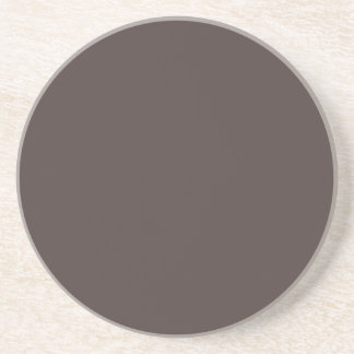 French Roast Brown Background. Chic Fashion Color Coaster