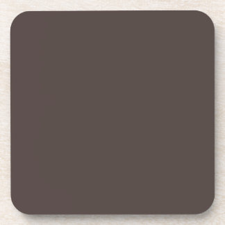 French Roast Brown Background. Chic Fashion Color Drink Coaster