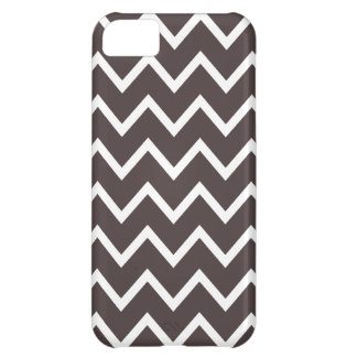 French Roast Brown Chevron iPhone 5 Case