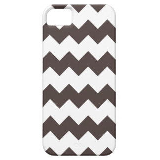 French Roast Brown Modern Zig Zag iPhone 5 Case iPhone 5 Cases