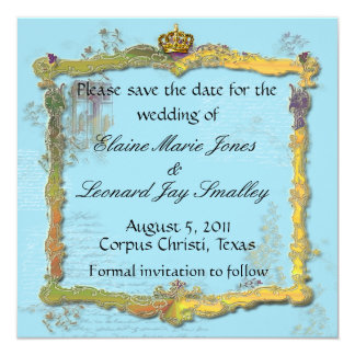 French Rococo Royal Save the Date Card