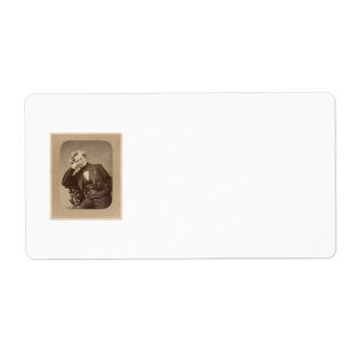 French Romantic composer Hector Berlioz Shipping Label