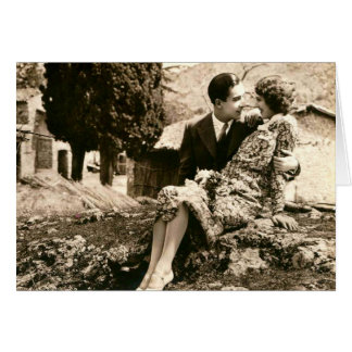 French Romantic Love Couple Vintage Stationery Note Card