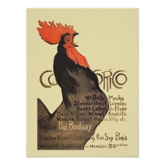 French Rooster Cocorico by Stenlen Art Poster