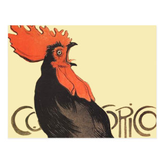 French Rooster Cocorico by Stenlen Art Poster Postcard