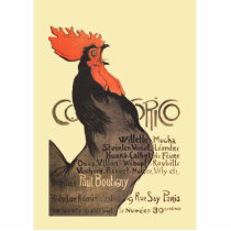 French Rooster Cocorico by Stenlen Art Poster Statuette
