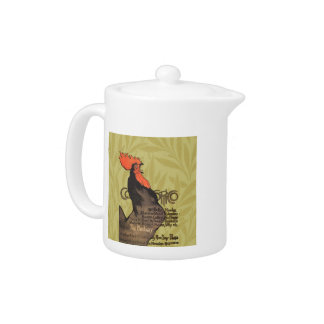 French Rooster Cocorico by Stenlen Art Poster Teapot