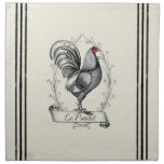 French Rooster Le Poulet Napkin