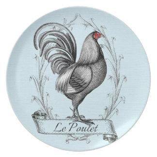 French Rooster Le Poulet Plato De Comida
