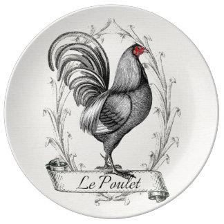 French Rooster Le Poulet Platos De Cerámica