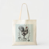 French Rooster Le Poulet Tote Bag