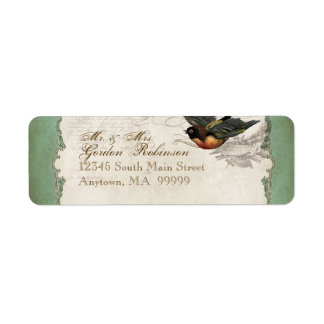 French Rose Love Birds Vintage Lace - Apple Green Label
