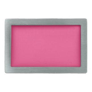 French Rose Pink Rectangular Belt Buckles